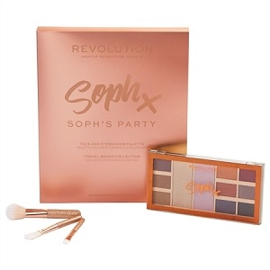 Ajándékcsomagok Makeup Revolution Party Sophx Face and Eyeshadow Palette