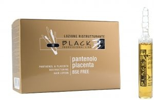 Hajhullás Black Professional Line Panthenol & Placenta Hair Lotion hajszérum 12 x 10 ml